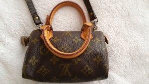 Louis Vuitton Minibolso marrón oscuro-marrón claro Cuero