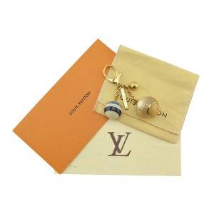 Louis Vuitton Key Chain gold-colored-beige
