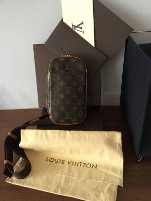 Louis Vuitton Modell Pochette Gange, original , Monogram Canvas Muster, Gürteltasche, Crossbody-Bag