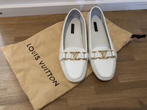 Louis Vuitton Mocassins blanc cuir