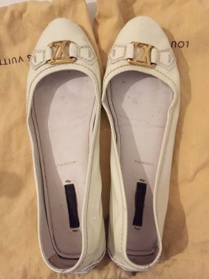Louis Vuitton Mocassins blanc cassé