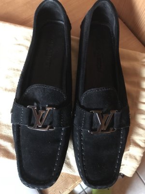 Louis Vuitton Moccasins black suede