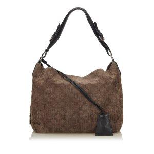 Louis Vuitton Sac hobo brun foncé daim