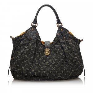 Louis Vuitton Shoulder Bag black cotton