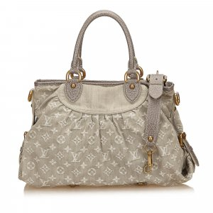 Louis Vuitton Shoulder Bag grey cotton