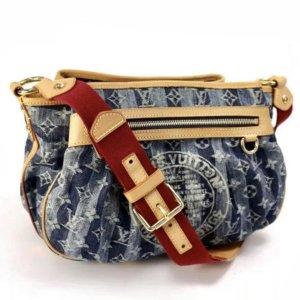 Louis Vuitton Monogram Denim Rayures MM blau Limited Edition Fullset