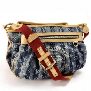 Louis Vuitton Monogram Denim Rayures MM blau Limited Edition Fullset