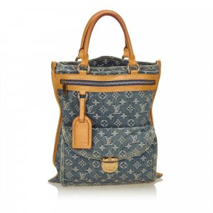 Louis Vuitton Monogram Denim Sac Plat
