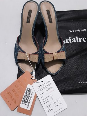 Louis Vuitton Monogram Denim Sandalen Gr.39