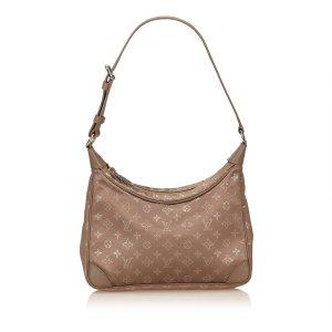 Louis Vuitton Sac porté épaule brun viscose