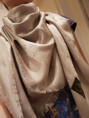 Louis Vuitton Monogram LV Seide Wolle Elegant Farbe Greige M71336