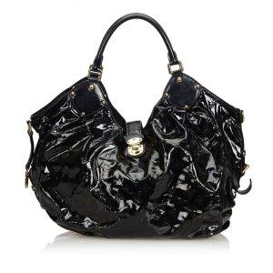 Louis Vuitton Sac à main noir faux cuir