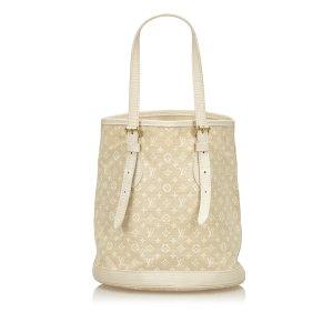 Louis Vuitton Bolso de compra blanco Algodón