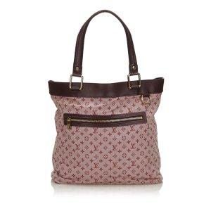 Louis Vuitton Bolso de compra rosa claro Algodón
