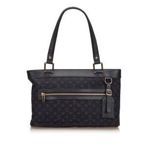 Louis Vuitton Borsetta blu Cotone