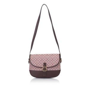 Louis Vuitton Sac porté épaule bordeau
