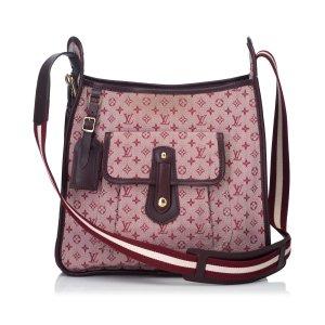 Louis Vuitton Gekruiste tas lichtroze Katoen