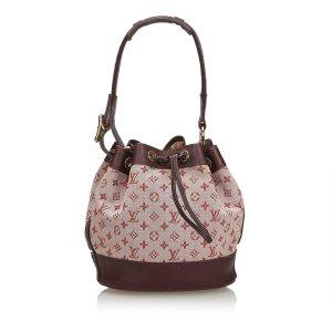 Louis Vuitton Shoulder Bag bordeaux cotton