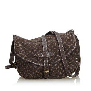 Louis Vuitton Bandolera marrón Algodón