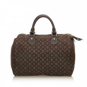 Louis Vuitton Borsetta marrone Cotone