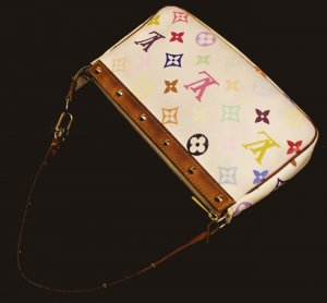 LOUIS VUITTON Monogram Multicolor weiss POCHETTE SL1003