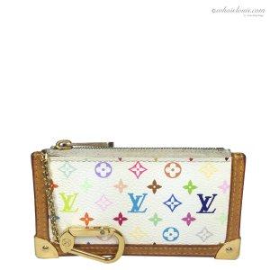 Louis Vuitton Monogram Multicolore Canvas Schlüsseletui Anhänger Geldbörse