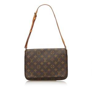 Louis Vuitton Schoudertas donkerbruin