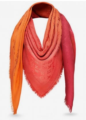 Louis Vuitton Monogram Sunrise Shawl M74012 Corail
