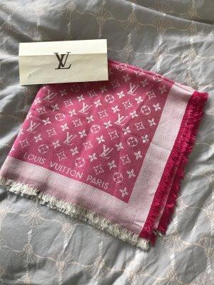 Louis Vuitton Monogram Tuch Schal Denim pink