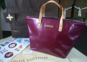 Louis Vuitton Sac bordeau cuir