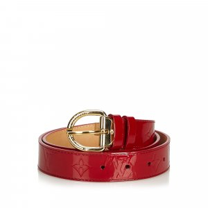 Louis Vuitton Belt red imitation leather