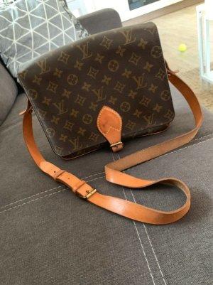 Louis Vuitton Bandolera marrón-negro Cuero