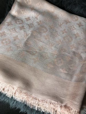 Louis Vuitton Fringed Scarf pink-silver-colored