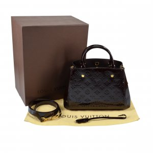 Louis Vuitton Montaigne BB Monogram Vernis Leder Handtasche @mylovelyboutique.com