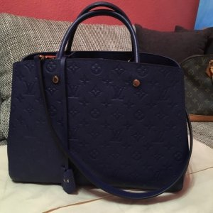 Louis Vuitton Montaigne Iris/blau neu