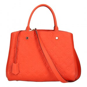 Louis Vuitton Sac à main orange-doré cuir