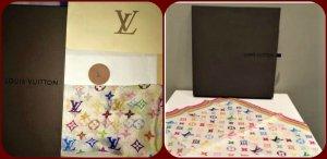 Louis Vuitton Écharpe en soie multicolore soie