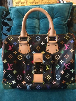 LOUIS VUITTON MULTICOLOR SPEEDY 30 schwarz Takashi Murakami NEU