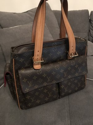 Louis Vuitton Shopper veelkleurig Leer