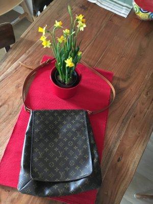 Louis Vuitton Sac porté épaule bronze cuir