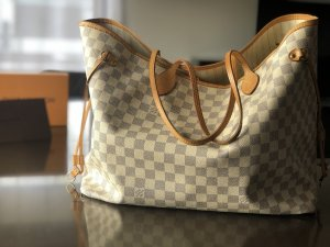 Louis vuitton neverfull gm Azur Ebene Canvas shopper Original mit rechnug und Karton