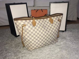 Louis Vuitton Neverfull MM Azur Bag Tasche Luxus Too