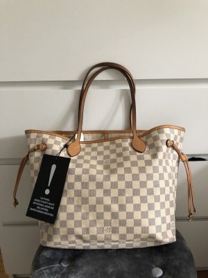 Louis Vuitton Neverfull MM Azur Canvas Shopper Tasche