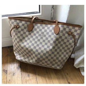Louis Vuitton Neverfull MM Azur Shopper Tasche Canvas Top