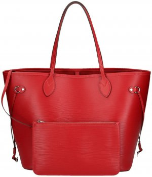 LOUIS VUITTON NEVERFULL MM SCHULTERTASCHE AUS EPI LEDER IN CARMIN ROT