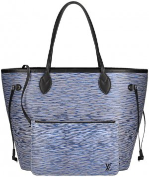 LOUIS VUITTON NEVERFULL MM SCHULTERTASCHE AUS EPI LEDER IN DENIM BLAU