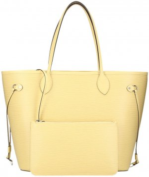 Louis Vuitton Handbag pale yellow-silver-colored leather