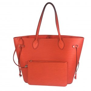 LOUIS VUITTON NEVERFULL MM SCHULTERTASCHE AUS EPI LEDER IN PIMENT ORANGE