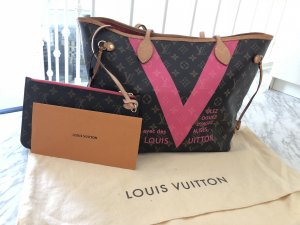 Louis Vuitton Neverfull Monogram Pink V Grenadine