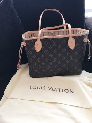 Louis Vuitton Sac à main gris brun-noir cuir
